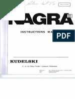Nagra III Instructions Manual