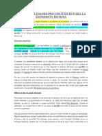 Microhabilidades Psicomotrices Para La Expresión Escrita