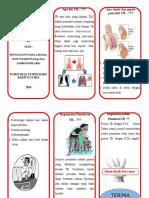 Leaflet-TB paru with slogan middle borneo
