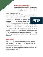 Valores y Vectores Propios Diagonalizacion