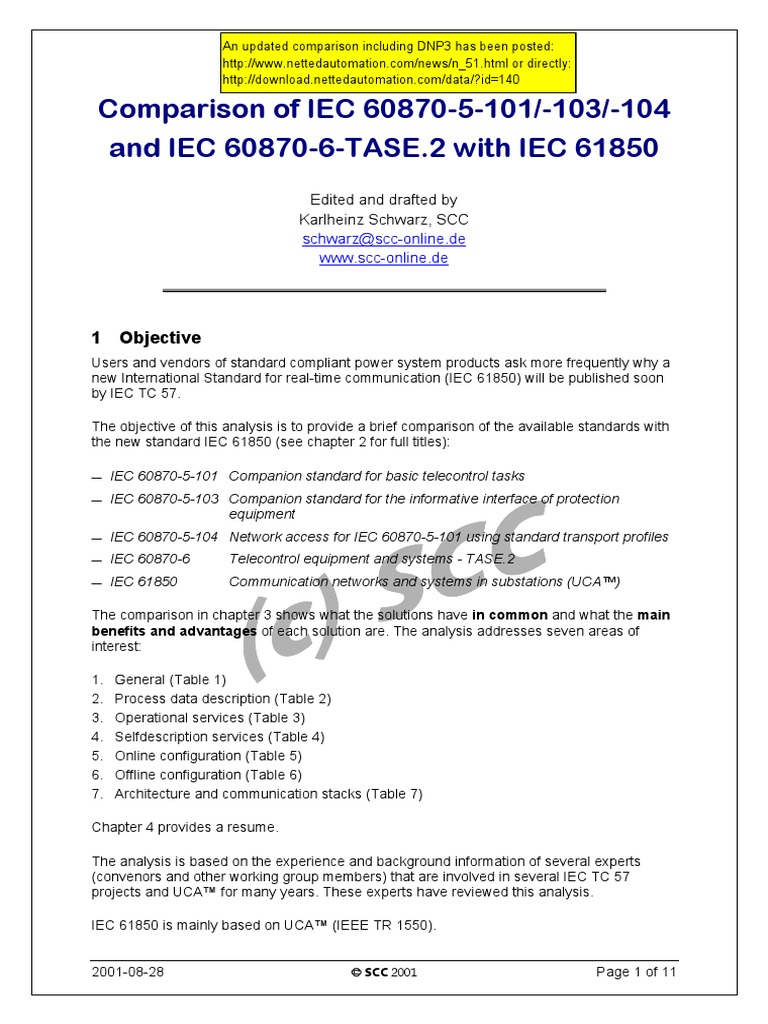 Comparison_101-61850   Osi Model   Communications Protocols