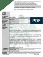 Infome Programa de Formación Titulada Construccion y Montaje de Instalaciones Electricas