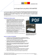 Vizualizing GPR Data in Google Earth Using MALA GP