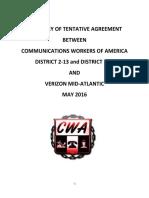 Summary of Tentative Agreement