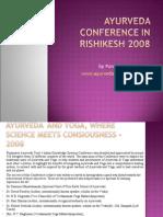 Ayurveda International Conference in Rishikesh 2008