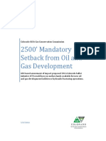 Fracking Setback Analysis
