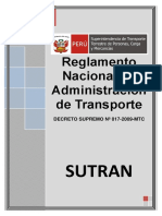 DECRETO SUPREMO N° 017-2009-MTC Y MODIFICATORIAS