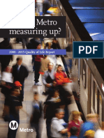 Metro Quality of Life report