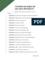 Lista Completa de Atajos de Teclado Para Windows 8