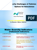 Water Security Challenges Of Pakistan Options for Balochistan-March 2016 (1).pptx