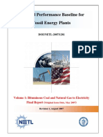 Cost and Performance Baseline for Fossil Fuel Energy Plants