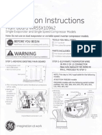 GE Regrigerator Circuit Board Install Instruction_08Feb2016