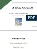 Curso de Excel Avanzado Sesión 1