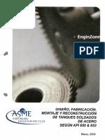 Diseño y Fabricacion Segun API 650-Oct 2009