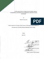 a comparative analysis of curriculum content among undergraduate imc programs
