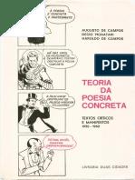 CAMPOS, Haroldo e Augusto Teoria Da Poesia Concreta