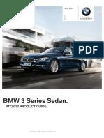 MY12 3 Series Sedan Product Guide