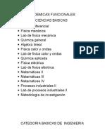 Areas Academicas Funcionales
