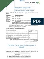 EPM Alcantarillado Sanitario Parametros