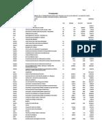 Presupuesto General Pavimentación