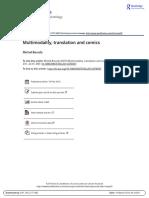 Multimodality Translation and Comics