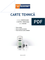 CarteTehnica AudioInterfon ELECTRA-SemiduplexAnalogic