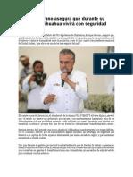 2016-05-27 Enrique Serrano Asegura Que Durante Su Gobierno Chihuahua Vivirá Con Seguridad
