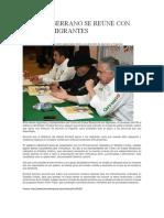 2016-05-28 Enrique Serrano Se Reúne Con Líderes Migrantes