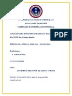 Informe Nutricional Quinua y Arroz