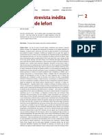 Uma entrevista inédeita de Claude Leforte em portugues - Ruy Fausto.pdf