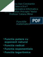 Prezentarea Unor Functii Matematice