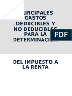 Gastos Deducibles y No Deducibles