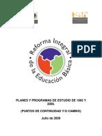 Comparativo Planes y Programas