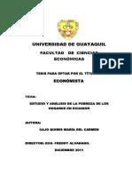 Estudio y Análisis de La Pobreza de Los Hogares en Ecuador