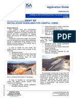 LAVIOSA LWT LINING Landfill ModuloGeobentXP ApplicationGuide ENG Rev1214