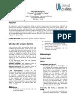 informe de laboratorio Procesos Redox