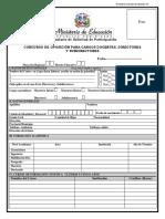 Formulario de Inscripción Concurso