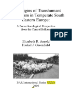 The Origins of Transhumant Pastoralism in Temperate SE Europe - Arnold Greenfield