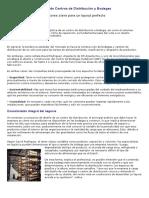 Diseño de Centros de Distribución y Bodegas