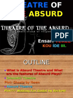 Waiting for Godot-Theatre of the absurd- Realist plot and plot of WFG