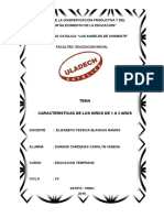 Monografia de Las Caracteristicas de Los Niños de 1 a 3 Años