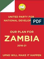 UPND Manifesto  2016-21