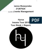 Live Events Management Assingment