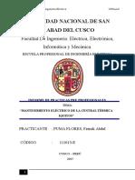 Mantenimiento Electrico de La Central Termica Iquitos - Informe de Practica