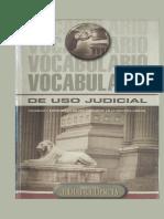 Vocabulario de Uso Judicial Gaceta Jurídica