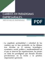 Cambios en Paradigmas Empresariales