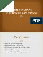Planificacion Sistema de Apoyo