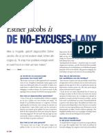 Esther Jacobs is de No Excuses Lady