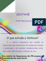 SINTAXE I