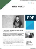 6 Poemas de David Meza